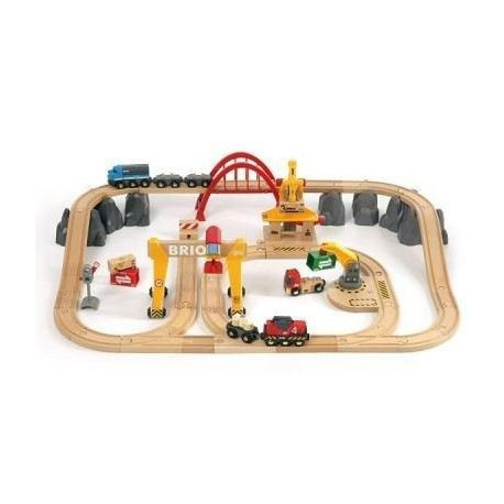 BRIO World  - 33097 - Circuit Grues Et Chargements