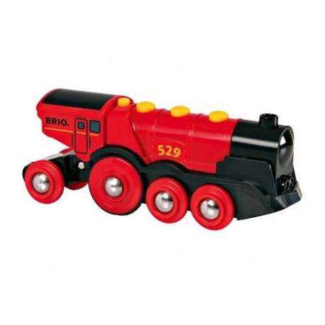 BRIO World  - 33592 - Locomotive Rouge Puissante A Piles