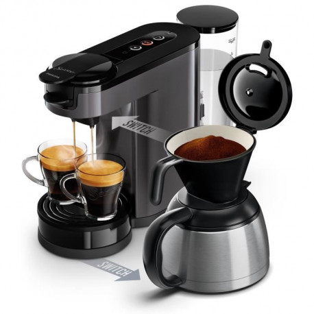 PHILIPS SENSEO HD6591/21 Machine a café a dosette ou filtre Switch - Verseuse isotherme - 1 L - Gris