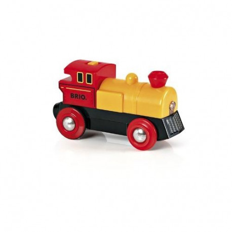 BRIO World  - 33594 - Locomotive A Pile Bi Directionnelle Jaune