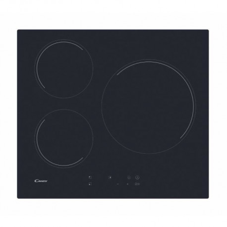 CANDY CIB632C Table induction - 3 zones - 6000W - L 59 x P 52 cm - Noir