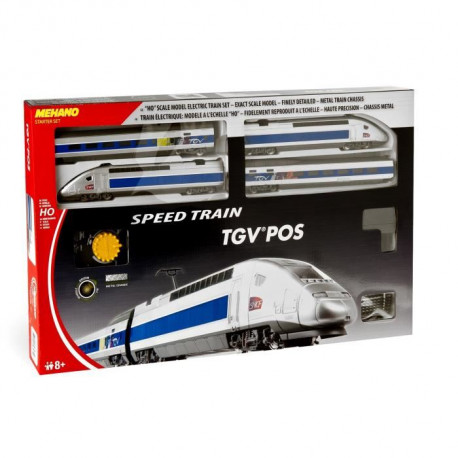 MEHANO Coffret de train TGV POS - Circuit de 3,35 m