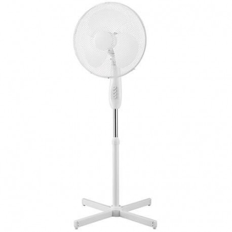 EXTEL FS40T Ventilateur sur pied - Diametre : 40 cm - 50 watts - 3 vitesses - Hauteur : 120 cm - Oscillant - Inclinable