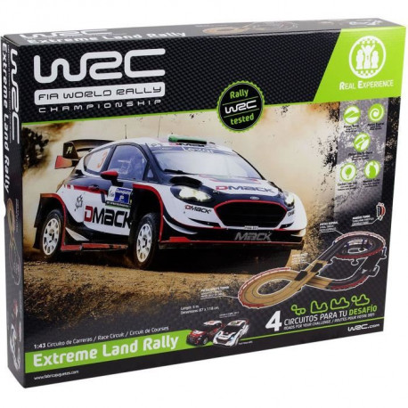 WRC Set 1/43 Extreme Land Rallye - 4,5 m - Circuit Electrique