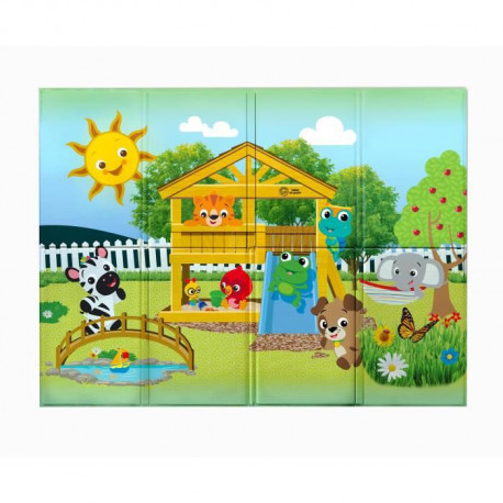 BABY EINSTEIN Tapis d'éveil enroulable Anytime Playground -119,38 x 88,9 cm - Multicolore