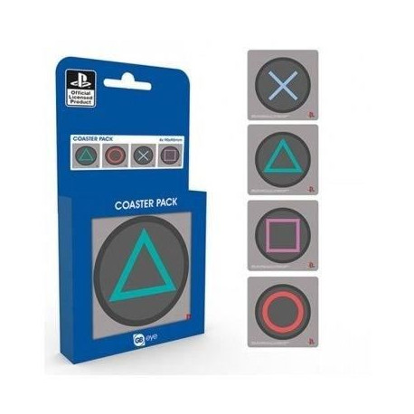 4 sous-verres GB Eye Playstation
