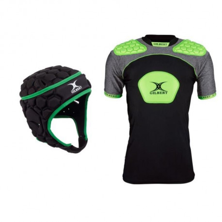 GILBERT Pack Protection Rugby Casque + Epauliere - Adulte - Taille XL