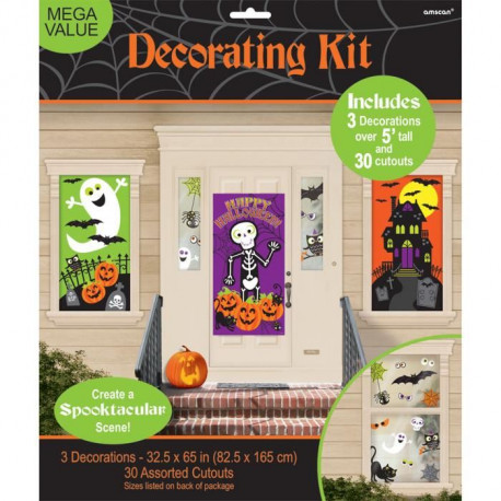 AMSCAN Kit 34 Décorations Family Friendly Halloween - 1,65m x 85 cm