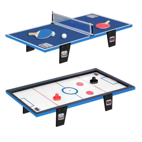 CDTS Table de ping-pong + Table de hockey - 81 x 40 cm