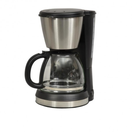 KITCHEN CHEF KSMD250 Cafetiere - 15 tasses - Inox/Noir
