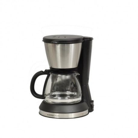KITCHEN CHEF KSMD230 Cafetiere - 6 tasses - Inox/Noir