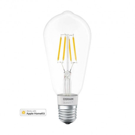 OSRAM Ampoule Edison connectée filament LED Smart+ dimmable - Culot E27