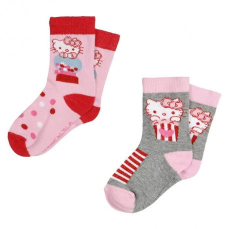 HELLO KITTY Lot de 2 Chaussettes Enfant Fille