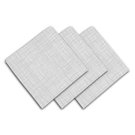 SOLEIL D'OCRE Lot de 3 serviettes de table - Galaxy -  45x45 cm - Blanc