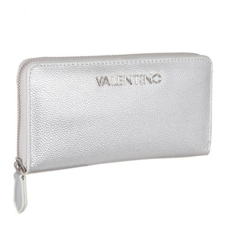 VALENTINO VPS1R4155G Portefeuille - Synthétique - Argent - Femme