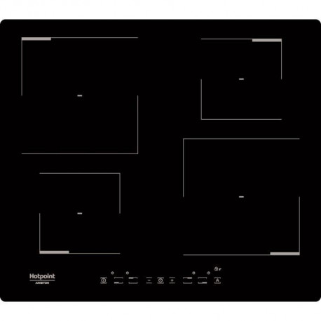 HOTPOINT HKIA640C - Table de cuisson - Induction - 4 zones - 7200W - L59xP51cm - Revetement verre - Noir