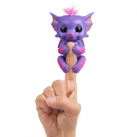 WOWWEE Fingerlings bébé Dragon Kaylin - Mauve