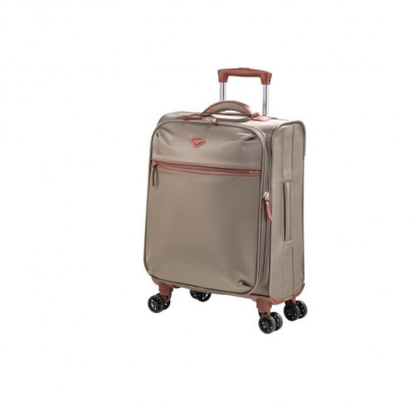 JUMP Valise Cabine Trolley Souple Nylon NICE - 4 roues - 55 cm - Bronze