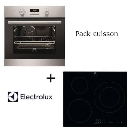 Pack Electrolux: EEC2400BOX Four électrique encastrable multifonction + CIT60331CK - Table de cuisson induction