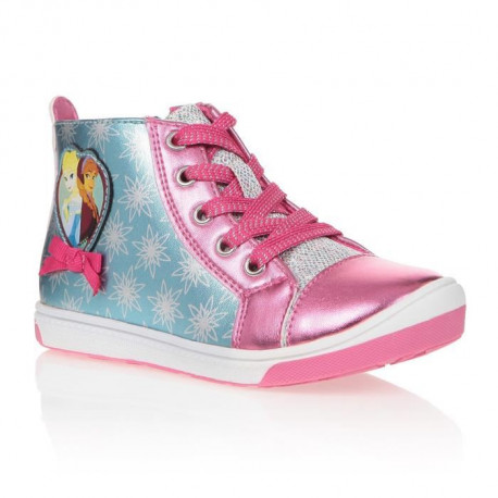 LA REINE DES NEIGES Baskets Montantes Fuschia Enfant Fille