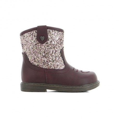 CORTINA Bottines western Rouge Bordeaux Bébé Fille