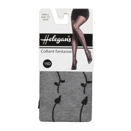HELEGANS Collant Simge 15D Gris Anthracite Femme