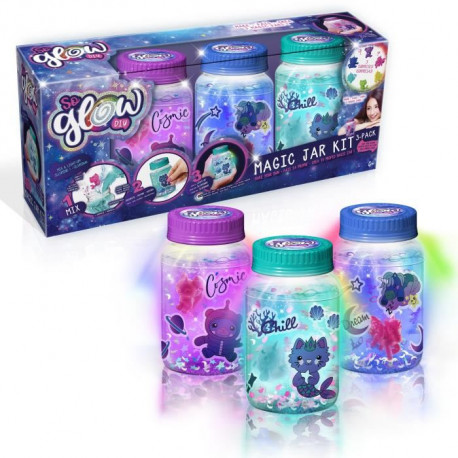 CANAL TOYS - SO GLOW - Magic Jar - Crée 3 Magic Jars Lumineuses !