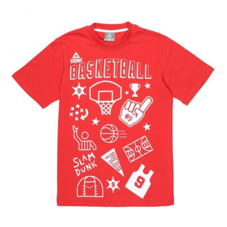 PEAK T-shirt TP Fantasy Basket - Enfant - Rouge