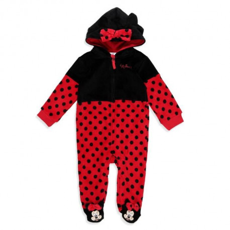 DISNEY MINNIE Combinaison Fantaisie Rouge Bébé Fille