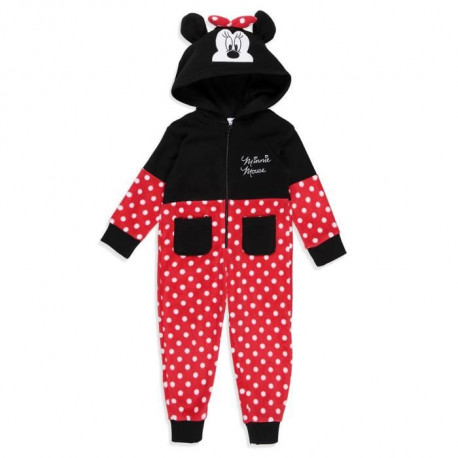 DISNEY MINNIE Combinaison Fantaisie Rouge Enfant Fille