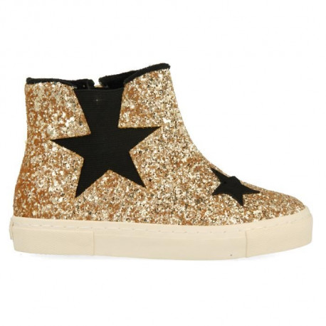 GIOSEPPO Baskets montantes a paillettes Or jaune Enfant fille