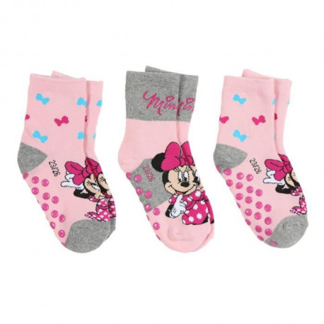 MINNIE Lot de 3 Chaussettes Rose Enfant Fille