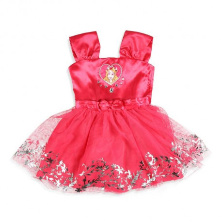 DISNEY PRINCESSES Robe Rose Fuchsia Enfant Fille