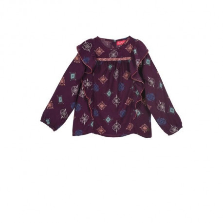 LITTLE MARCEL Blouse Violet Enfant Fille