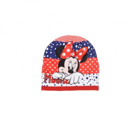 DISNEY MINNIE Bonnet Rouge Enfant Fille