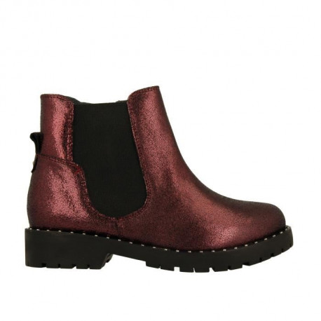 GIOSEPPO Bottines irisées Rouge bordeaux Enfant fille