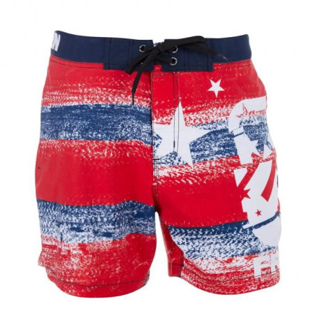 FREEGUN Boardshort Court - Homme - Rouge