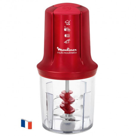 MOULINEX AT714G32 Hachoir multifonction Multi Moulinette - Rouge