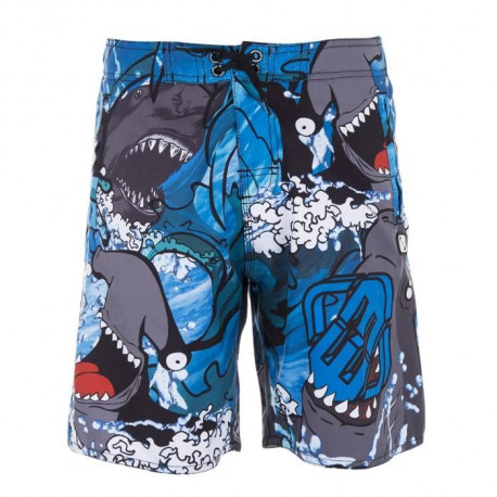 FREEGUN Boardshort Long - Garçon - Requin