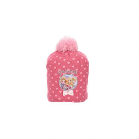 DISNEY PRINCESSES Ensemble Bonnet + Gants Rose Enfant Fille