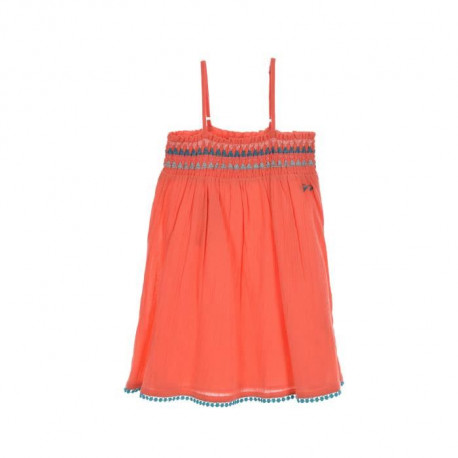 NAF NAF - Robe Orange a Fines Bretelles 100% Coton - Enfant Fille