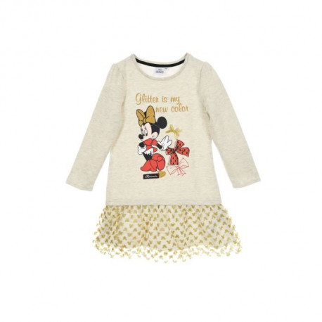 DISNEY MINNIE Robe Beige Enfant Fille
