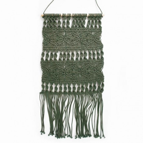 Suspension murale Macrame - 45 x 50 cm - Vert clair
