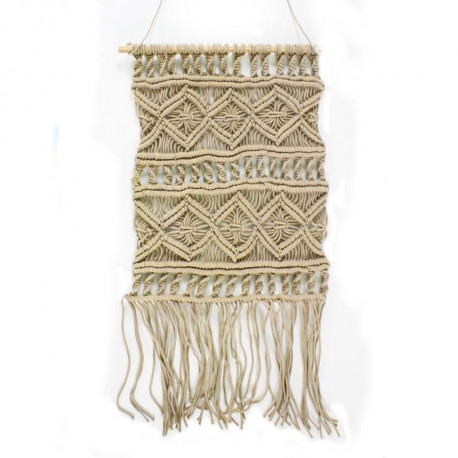 Suspension murale Macrame - 45 x 50 cm - Rose nude