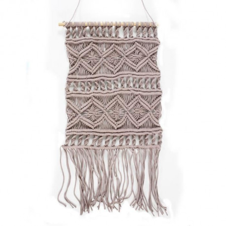Suspension murale Macrame - 45 x 50 cm - Violet clair