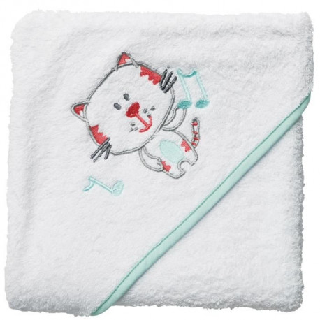 BABYCALIN Cape de bain Chat - 80 x 80 cm