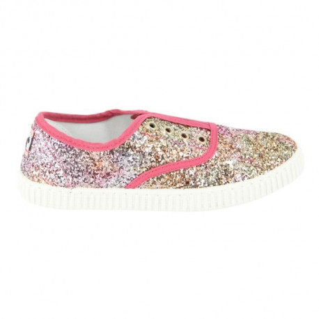 CHIPIE SHoeS Baskets de Ville Joseba Mu Rose et Multicolore Glitter Enfant Fille