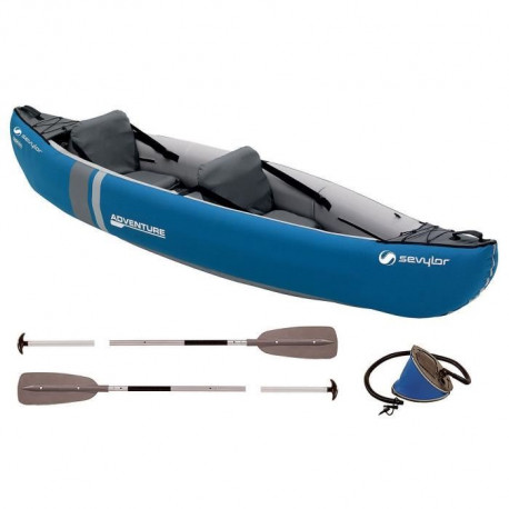 SEVYLOR Kit Kayak Gonflable Adventure - 2 places - Bleu