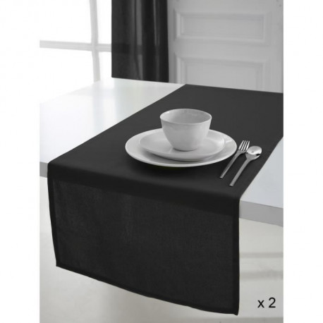 TODAY 2 Chemins de table 50x150cm coton REGLISSE