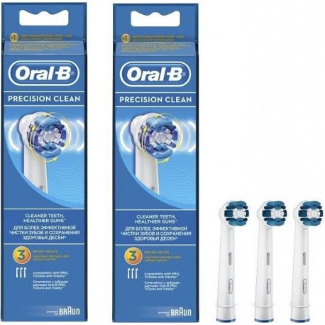PACK 2  Oral-B Precision Clean 3 brossettes de rechange